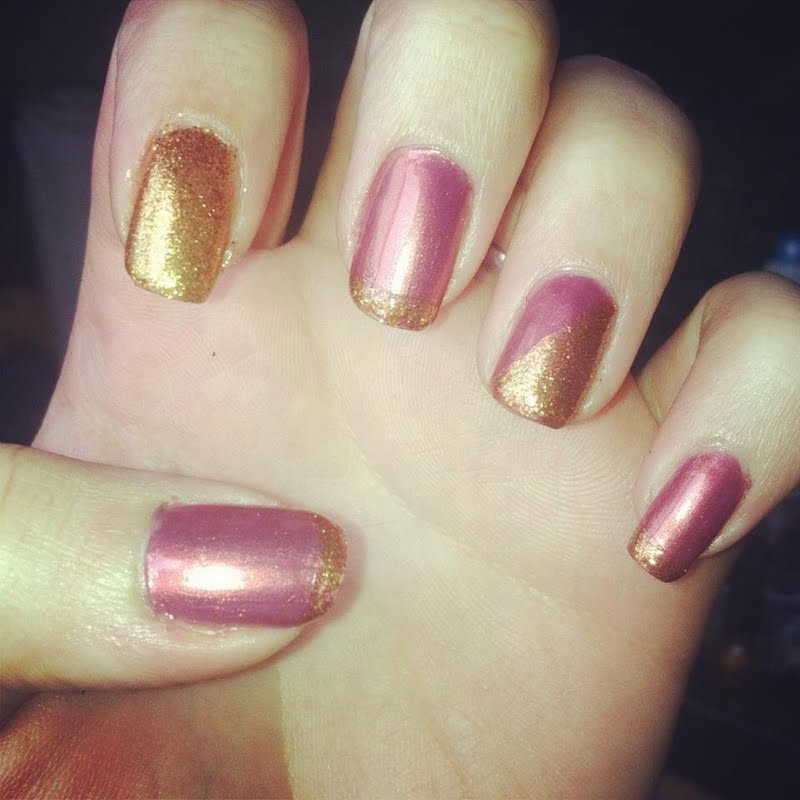 Pretty Pink And Gold Nail Art By Lindsay H