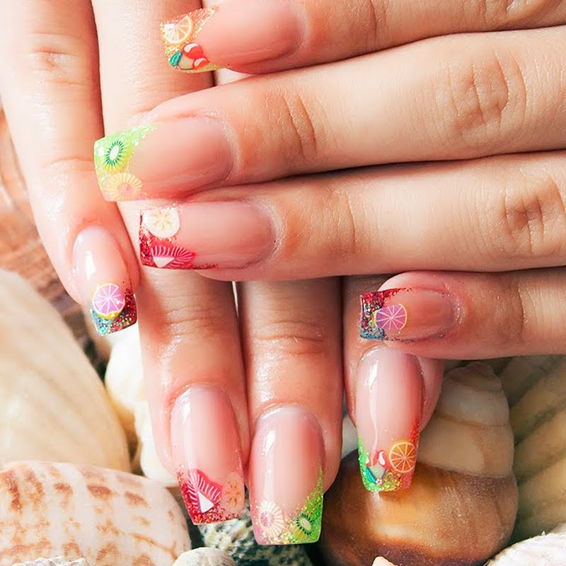 Summer Fruit Nail Art by Zuzka Š | Preen.Me